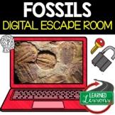 Fossils Digital Escape Room, Fossils Breakout Room, No Prep