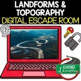 Landforms & Topography Digital Escape Room, Breakout Room & Activity Pages