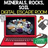 Minerals, Rock Cycle Digital Escape Room, Breakout Room No Prep