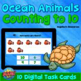 Ocean Animals Math Boom Cards™ Distance Learning, Math Games Digital Task Cards
