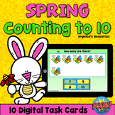 Spring Theme Counting 1-10 Boom Cards™ - Counting to 10 -A