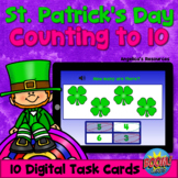 St. Patrick's Day Counting to 10 Boom Cards™ Math Games -D