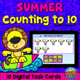 Summer Theme Counting 1-10 Boom Cards™ - Counting to 10 -A
