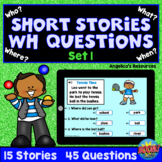 WH Questions Short Stories for Kids Boom Cards™ SET 1 - AB