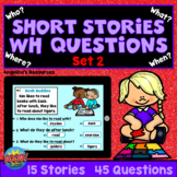 WH Questions Short Stories for Kids Boom Cards™ SET 2 - AB