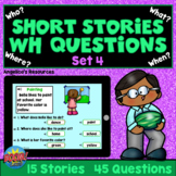 WH Questions Short Stories for Kids Boom Cards™ SET 4 - AB