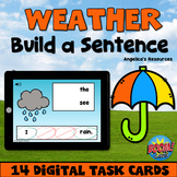 Weather Sentence Scramble Boom Cards™ - Distance Learning