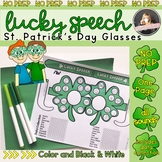 St Patrick's Day Speech Therapy: Lucky Speech Glasses for Articulation