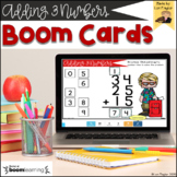 BOOM Cards-Adding 3 Numbers Digital Task Cards