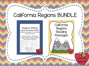 California Regions BUNDLE {Reading Passages and Writing/Activity Pack}