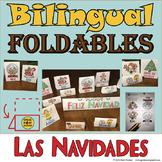 Bilingual Christmas Foldables for the Holidays. Spanish and English Craftivity!
