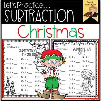 Christmas Themed Subtraction Practice