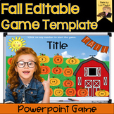 Fall Editable Interactive Powerpoint Game