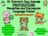 St. Patrick's Day Animals Prepositions Language Packet