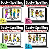 Body-Spelling Sight Words BUNDLE