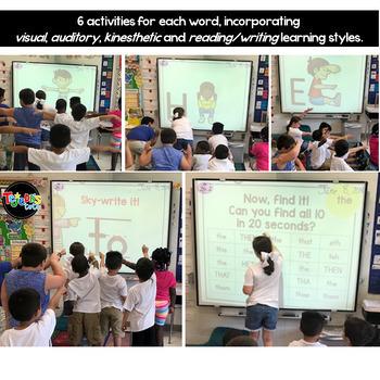 Body-Spelling BUNDLE: A Multi-Sensory Sight Words Resource