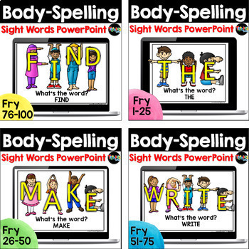 Body-Spelling BUNDLE: A Multisensory Sight Words Resource