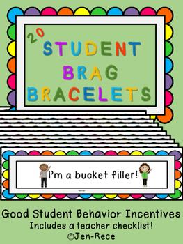 Student Brag Bracelets - Good Behavior Incentive/Reward