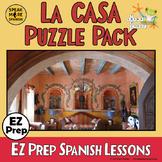 Vocabulario de En La CASA. Spanish HOUSE Vocabulary, Puzzl