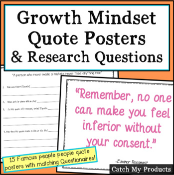 Inspirational Quote Poster with Research Questions