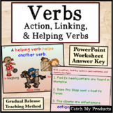 Verbs : Action Linking Helping Verbs in Power Point