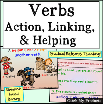 Verbs : Action Linking Helping Verbs for Promethean Board Use