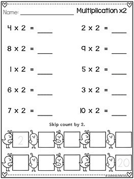 Multiplication Facts Practice Worksheets-Distance Learning ...
