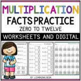 Multiplication Facts Fluency Practice Basic Math Worksheets and Google Slides