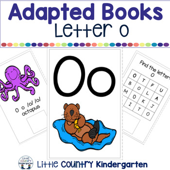 Alphabet Adapted Books: Letter O
