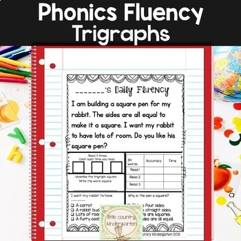 Reading Fluency Passages: Phonics Month of Trigraphs