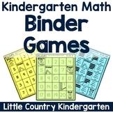 Kindergarten Math Binder Games: Counting & Cardinality