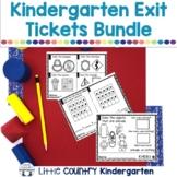 Kindergarten Math Exit Tickets: CCSS Aligned Bundle