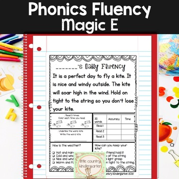 Phonics Fluency Passages: Daily Fluency: Month of Magic E or Split Digraphs