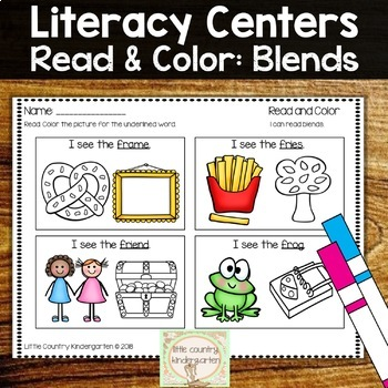 Read and Color Worksheets: Blends