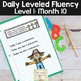 Daily Fluency Passages & Interactive Notebook Strips Level 1 Month 10