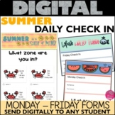 Daily Check in Form Summer