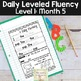 Daily Fluency Passages & Interactive Notebook Strips Level 1 Month 5