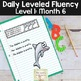 Reading Fluency Passages & Interactive Notebook Strips Level 1 Month 6
