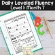 Daily Fluency Passages & Interactive Notebook Strips Level 1 Month 7