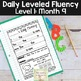 Daily Fluency Passages & Interactive Notebook Strips Level 1 Month 9
