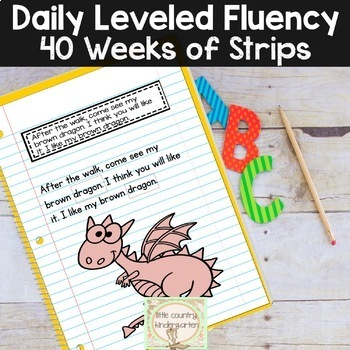 Reading Fluency Passages & Interactive Notebook Strips: Level 2 Bundle