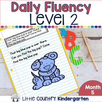 Daily Fluency Passages & Interactive Notebook Strips Level 2 Month 5