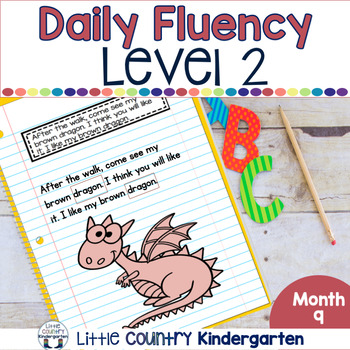 Daily Fluency Passages & Interactive Notebook Strips Level 2 Month 9