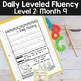 Reading Fluency Passages & Interactive Notebook Strips Level 2 Month 9