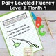 Daily Fluency Passages & Interactive Notebook Strips Level 3 Month 4