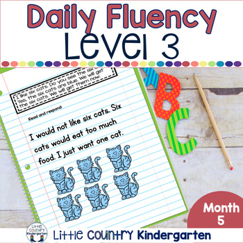 Daily Fluency Passages & Interactive Notebook Strips Level 3 Month 5