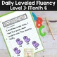 Reading Fluency Passages & Interactive Notebook Strips Level 3 Month 6