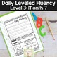 Reading Fluency Passages & Interactive Notebook Strips Level 3 Month 7