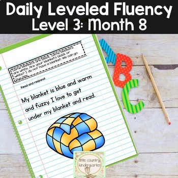Daily Fluency Passages & Interactive Notebook Strips Level 3 Month 8