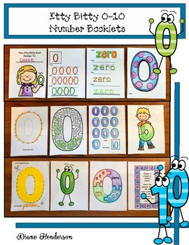 50% Off 0-10 Itty Bitty Number Booklets With 2 Center Activities